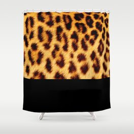 Leopard skin with black color Shower Curtain