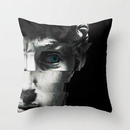 David's eye Throw Pillow