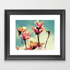 Blooming Spring Flowers Framed Art Print