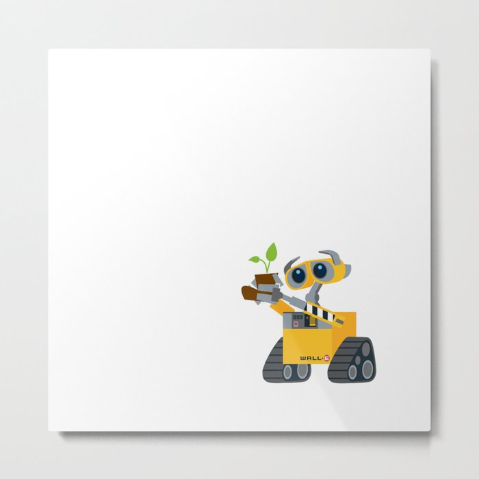 walle with plant Metal Print
