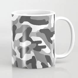 Grey Gray Camo Camouflage Coffee Mug