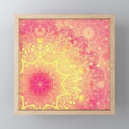 Mandala in Rose and Lemon Framed Mini Art Print