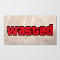 wasted rita Canvas Prints featuring Wasted by TxzDesign