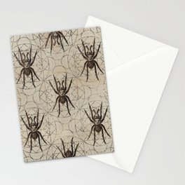 Spider Eurypelma on sacred geometry pattern Stationery Cards