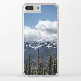 Landscape Banff Gondola View Clear iPhone Case