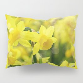 Bright Yellow Narcissus Pillow Sham
