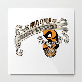 3 Year Survivor! Metal Print