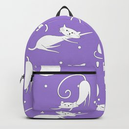 French Cats - Purple Backpack