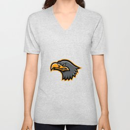 Eurasian Sea Eagle Head Mascot Unisex V-Neck