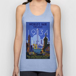 World's Fair Chicago 1934 - Vintage Poster Unisex Tank Top