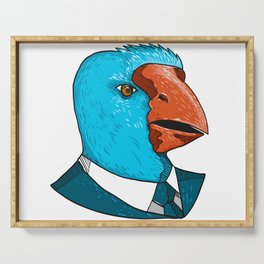 South Island Takahe in Business Suit Drawing Serving Tray