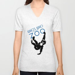 Who's Who In The Zoo -- Vintage WPA Unisex V-Neck