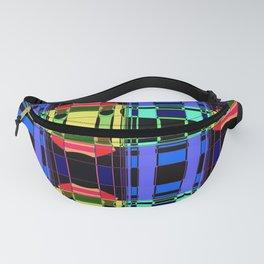Colorful Kaleidoscope on Black Fanny Pack