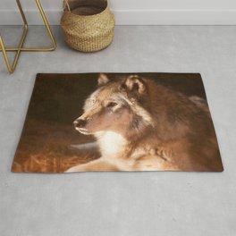Wolf Beauty Rug