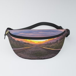Railroad Tracks Sunset Tequila Mexico Fanny Pack