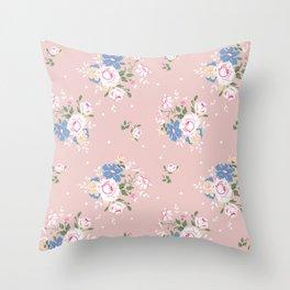 Heirloom Rose - Pink Throw Pillow