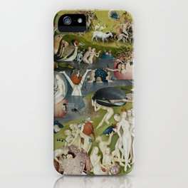 Hieronymus Bosch - The Garden of Earthly Delights - Medieval Oil Painting iPhone Case