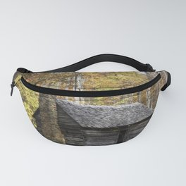 Smoky Mountain Rural Rustic Cabin Autumn View Fanny Pack
