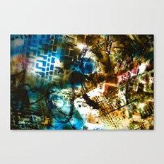 Retrollage 8.. Canvas Print
