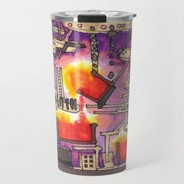 Industrial Steel Architectural Illustration Travel Mug