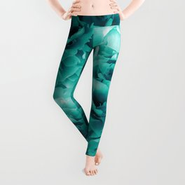 Turquoise Peonies Dream #1 #floral #decor #art #society6 Leggings