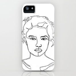 Face single line drawing illustration - Elvie iPhone Case