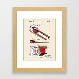 Skee Ball Patent - Colour Framed Art Print
