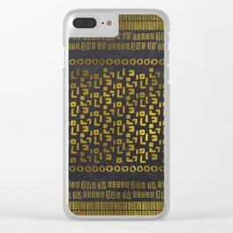 Decorative  Gold and Black Tribal Ethnic  Pattern Clear iPhone Case