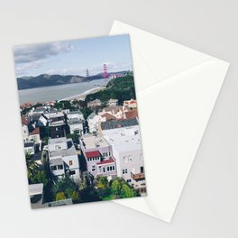 View of The City from above my Friends Apartment Stationery Cards