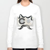tape Long Sleeve T-shirts featuring Tape Masculine by Texnotropio