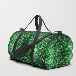 Glamour Dark Green glitter sparkles Duffle Bag