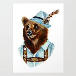 Bear-Varian  Art Print