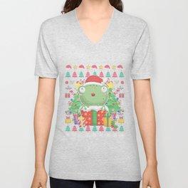 Frog Ugly Christmas Unisex V-Neck
