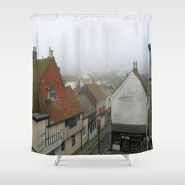 Hastings Old Town from the Jenny Lind Shower Curtain