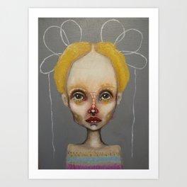 grey bo Art Print