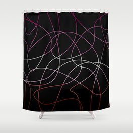 Abstract Threads – Lesbian Pride Flag Shower Curtain