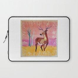 Floral Deer Acrylic Painting Laptop Sleeve