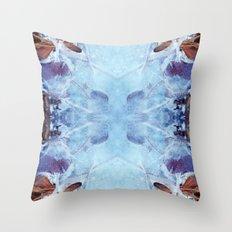Winter frost Throw Pillow
