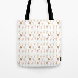 Watercolor Ice Cream Cones Tote Bag