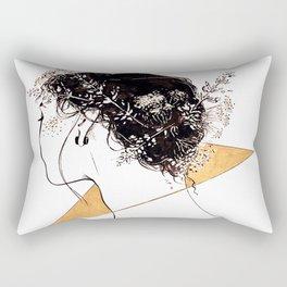 Inktober - Flower Crown Rectangular Pillow