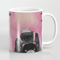 loll3 Mugs featuring T e d d y  by lOll3