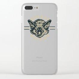 Evil Bat Division Clear iPhone Case