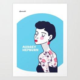 Audrey Hepburn II Art Print