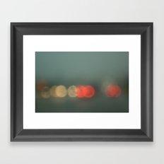 Brake Lights. Framed Art Print