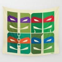 tmnt Wall Tapestries featuring TMNT by Szoki