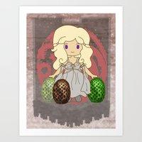 mother of dragons Art Prints featuring Mother of Dragons by Cosmic Lab Creations