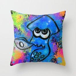I've Got an Inkling - Blue on Black Throw Pillow
