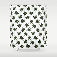 cannabis Shower Curtains featuring Cannabis by WeedPornDaily