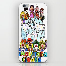 Humanitarian Clowns iPhone Skin