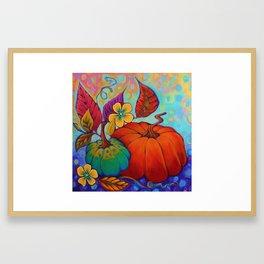 Jeweled Color Pumpkin Framed Art Print